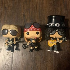 Funko POP Guns N Roses set of 3 figures